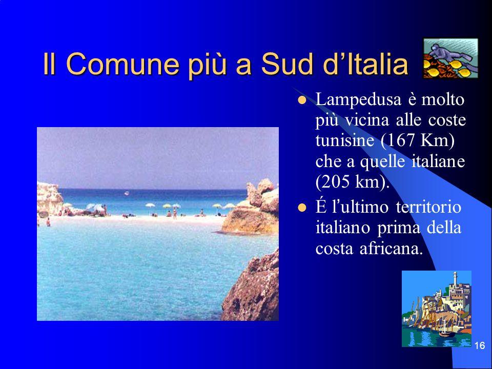 Il Comune più a Sud d'Italia