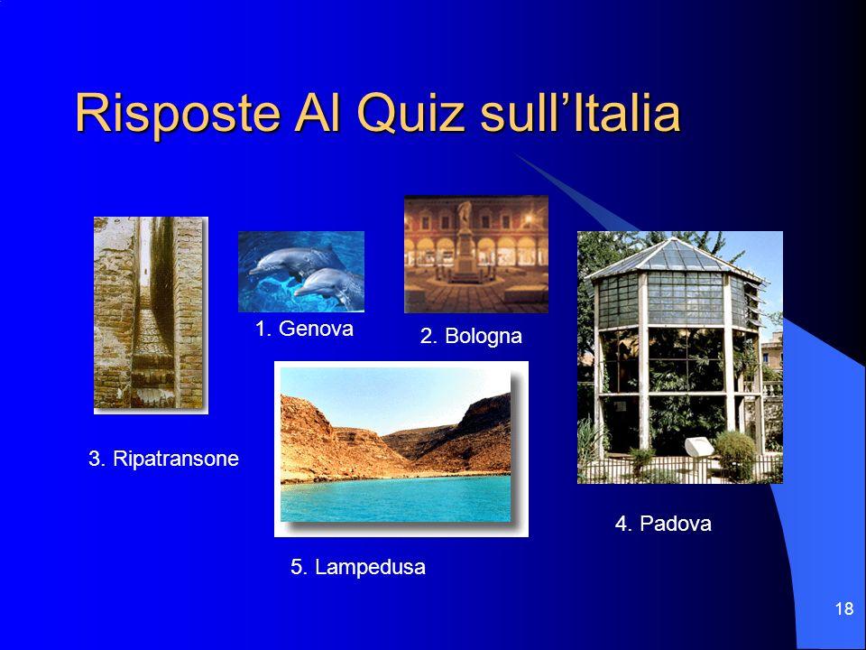 Risposte Al Quiz sull'Italia