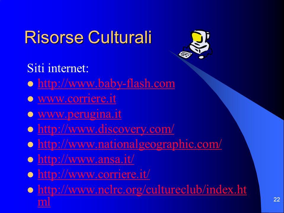 Risorse Culturali Siti internet: http://www.baby-flash.com