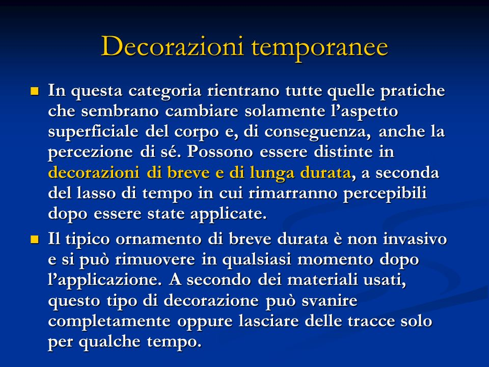 Decorazioni temporanee