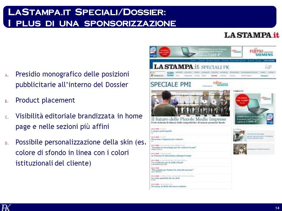 LaStampa.it Speciali/Dossier: I plus di una sponsorizzazione