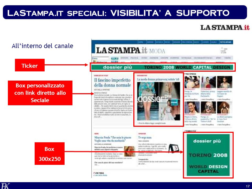 LaStampa.it speciali: VISIBILITA' A SUPPORTO