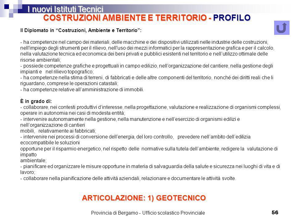 COSTRUZIONI AMBIENTE E TERRITORIO - PROFILO