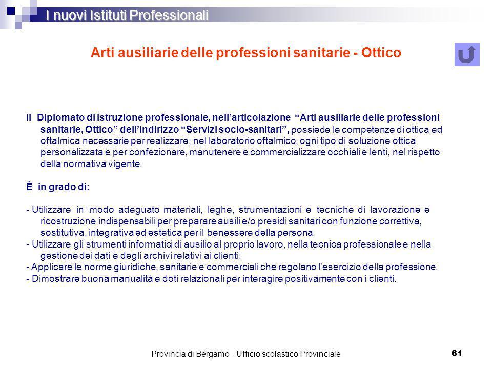 Arti ausiliarie delle professioni sanitarie - Ottico