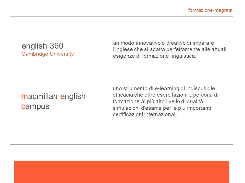 formazione integrata english 360 macmillan english campus