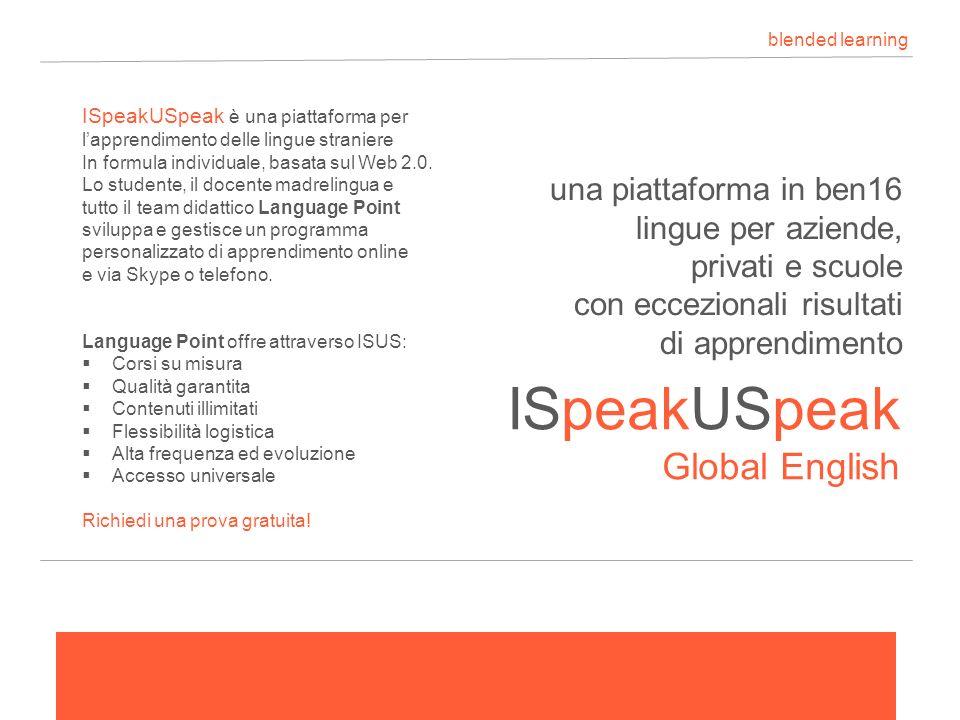 ISpeakUSpeak blended learning Global English