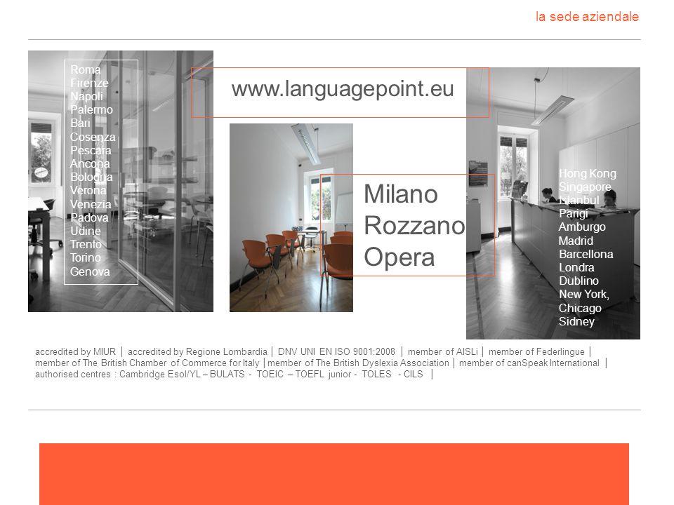 la sede aziendale www.languagepoint.eu Milano Rozzano Opera Roma