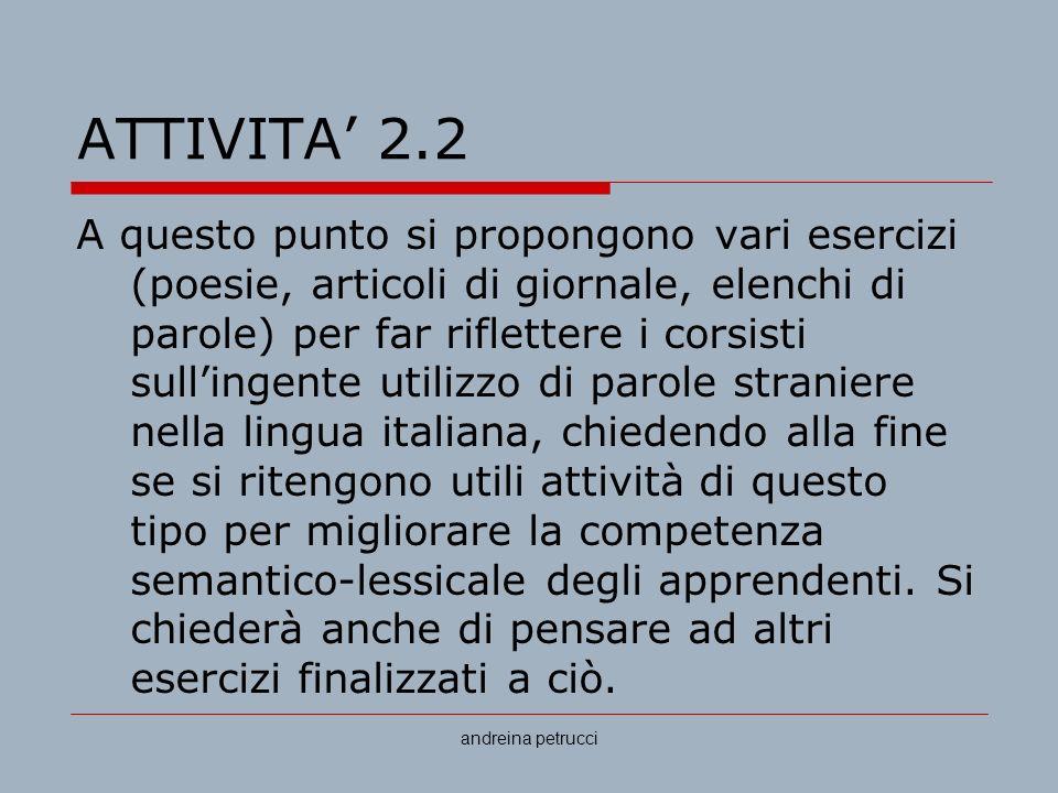 ATTIVITA' 2.2