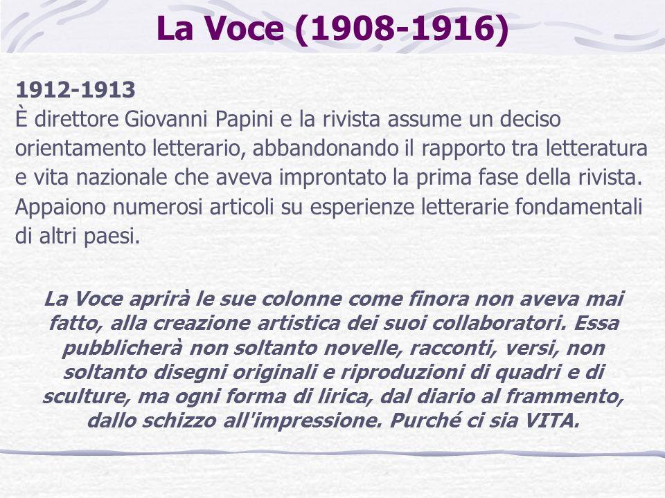 La Voce (1908-1916) 1912-1913.