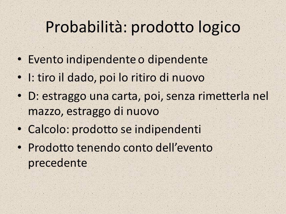 Probabilità: prodotto logico