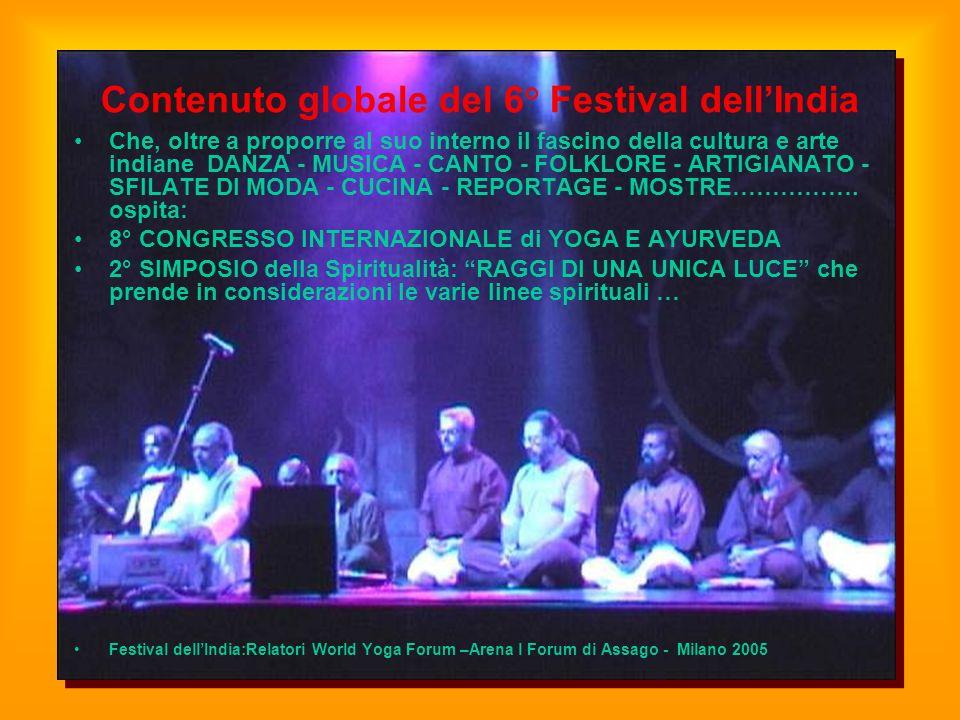 Contenuto globale del 6° Festival dell'India