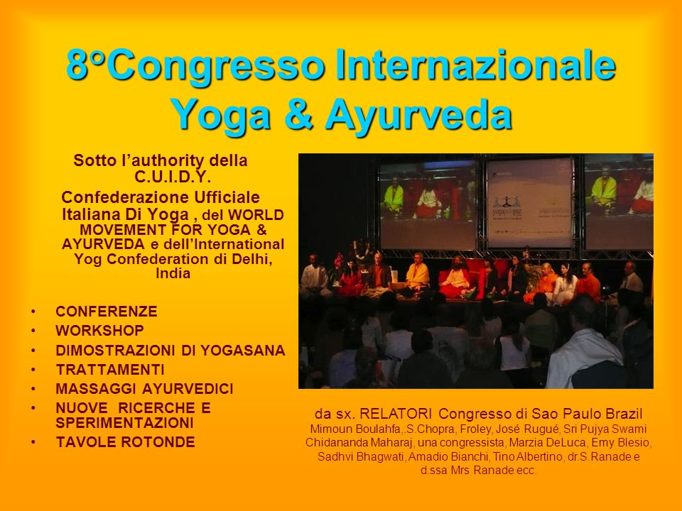 8°Congresso Internazionale Yoga & Ayurveda