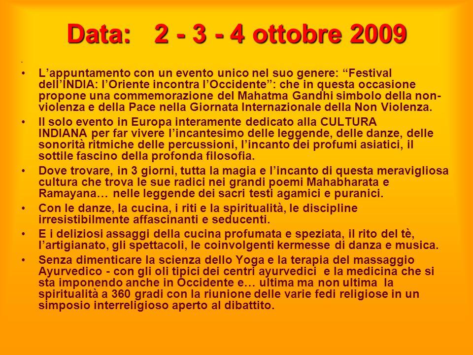 Data: 2 - 3 - 4 ottobre 2009