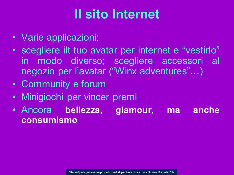 Il sito Internet Varie applicazioni: