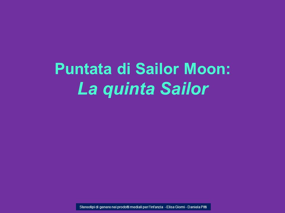 Puntata di Sailor Moon: La quinta Sailor