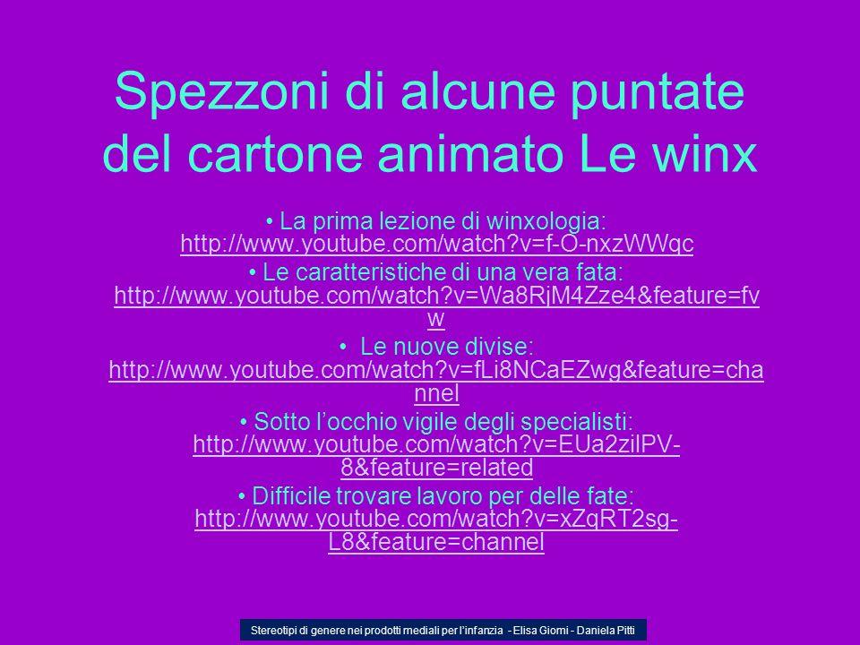 Spezzoni di alcune puntate del cartone animato Le winx