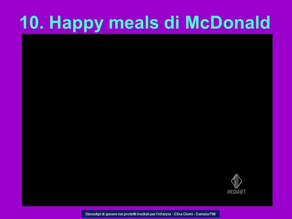 10. Happy meals di McDonald
