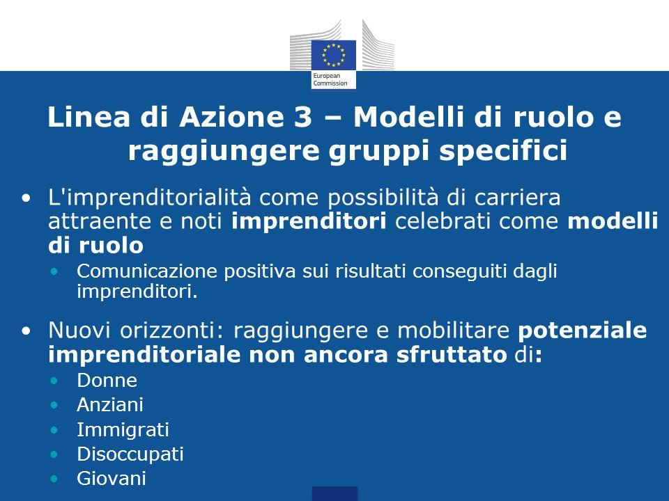 Linea di Azione 3 – Modelli di ruolo e raggiungere gruppi specifici