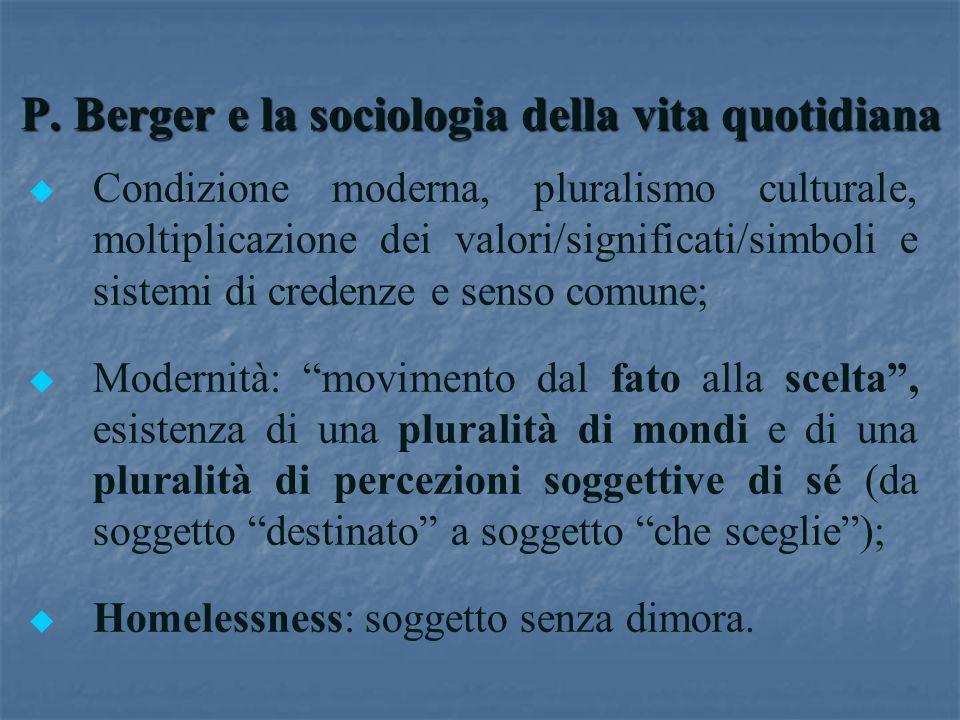 P. Berger e la sociologia della vita quotidiana