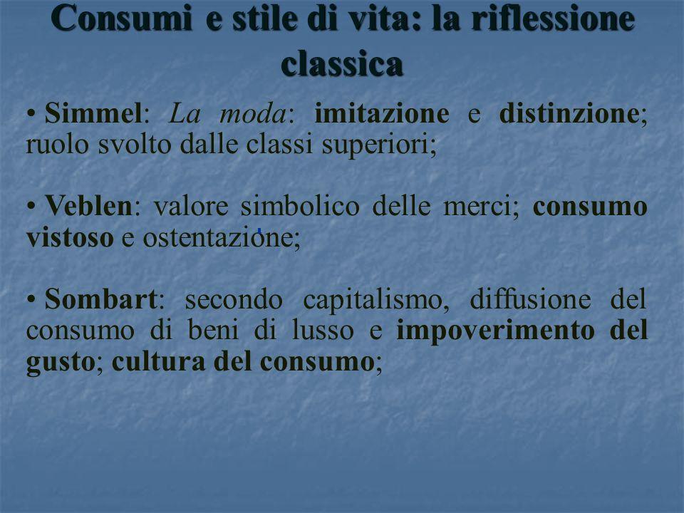 Consumi e stile di vita: la riflessione classica