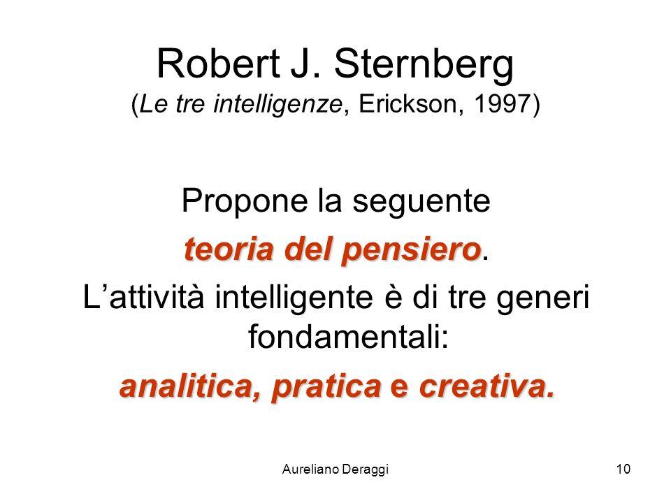 Robert J. Sternberg (Le tre intelligenze, Erickson, 1997)