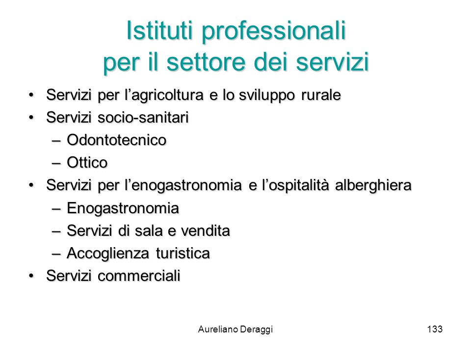 Istituti professionali per il settore dei servizi