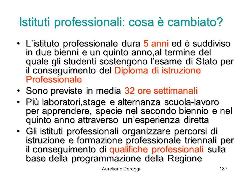 Istituti professionali: cosa è cambiato