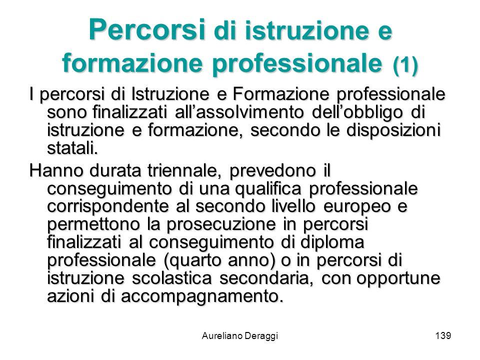 Percorsi di istruzione e formazione professionale (1)