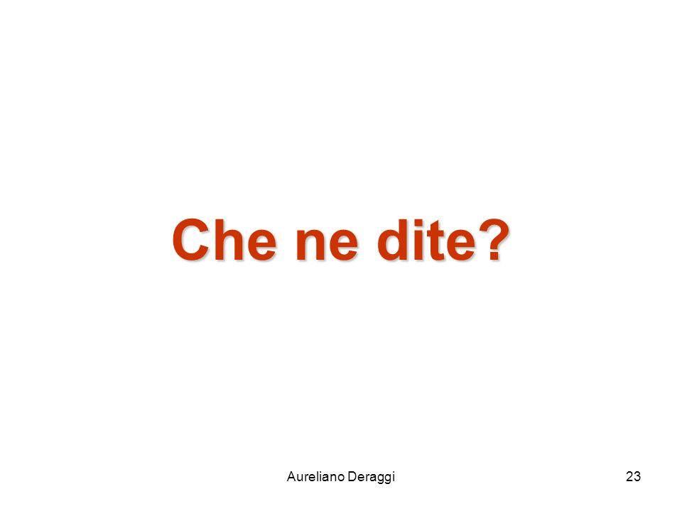 Che ne dite Aureliano Deraggi