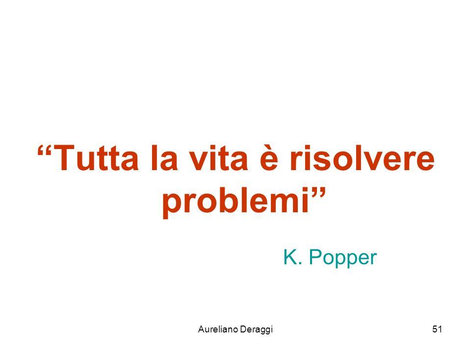 Tutta la vita è risolvere problemi