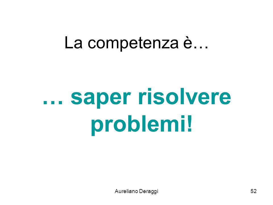 … saper risolvere problemi!
