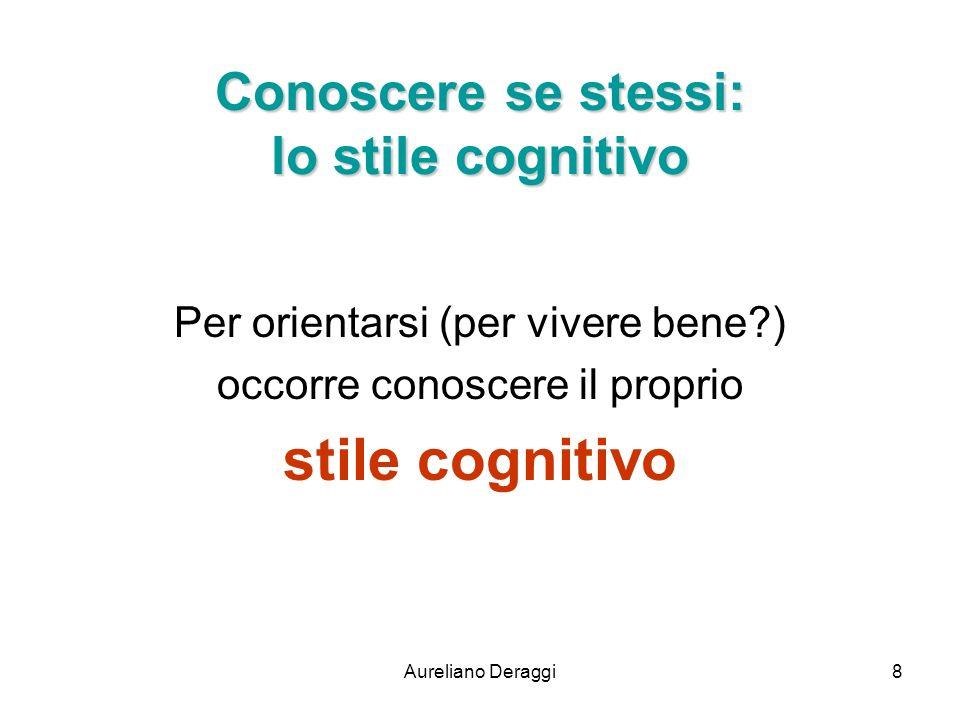 Conoscere se stessi: lo stile cognitivo