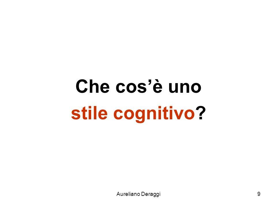 Che cos'è uno stile cognitivo