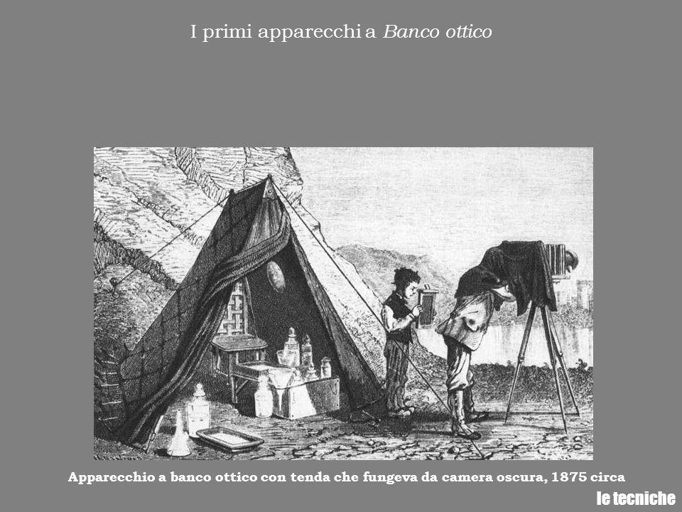 I primi apparecchi a Banco ottico