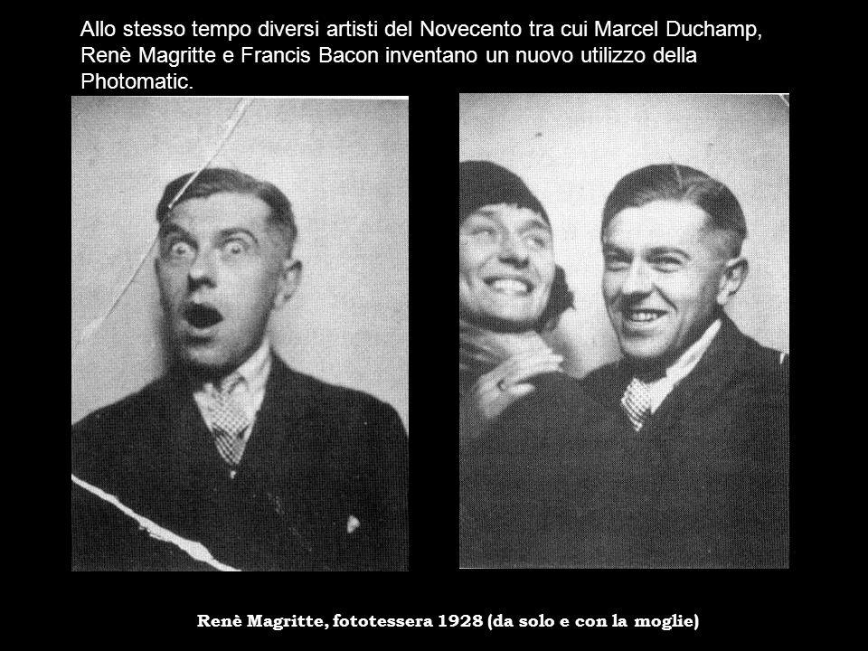 Allo stesso tempo diversi artisti del Novecento tra cui Marcel Duchamp, Renè Magritte e Francis Bacon inventano un nuovo utilizzo della Photomatic.