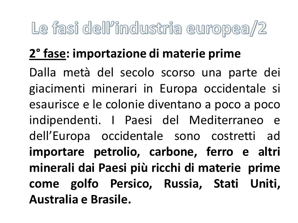Le fasi dell'industria europea/2