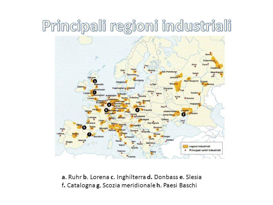 Principali regioni industriali