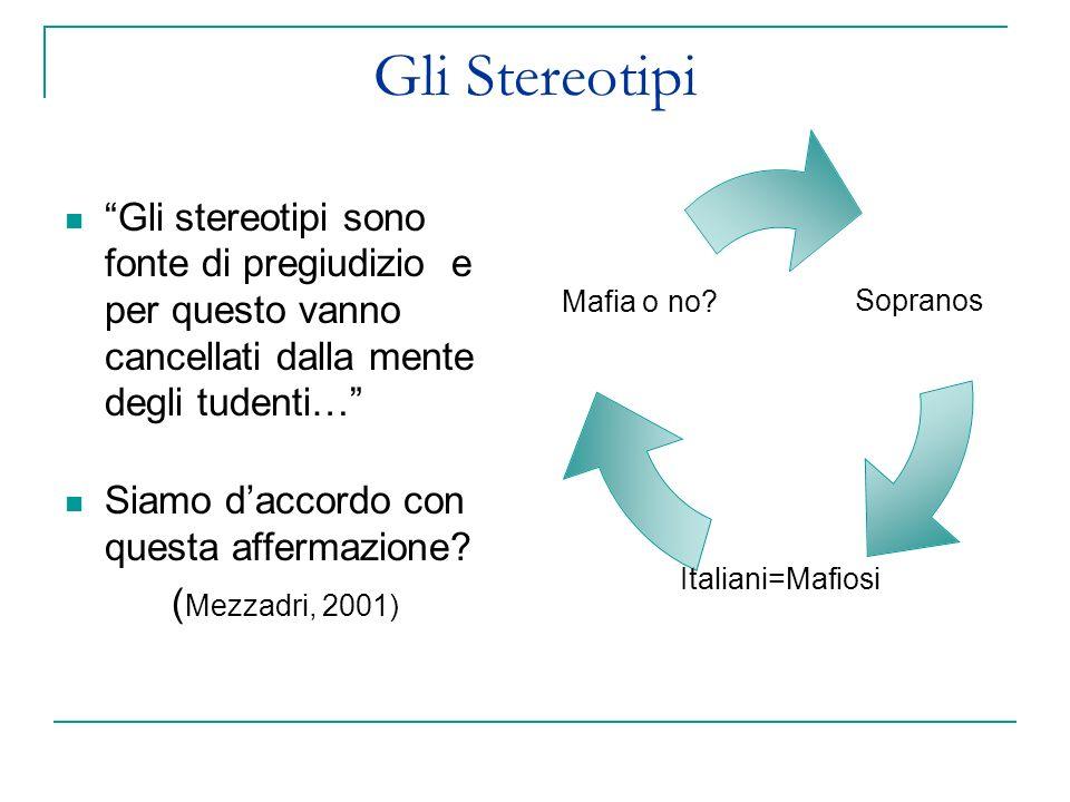 Gli Stereotipi Gli stereotipi sono fonte di pregiudizio e per questo vanno cancellati dalla mente degli tudenti…