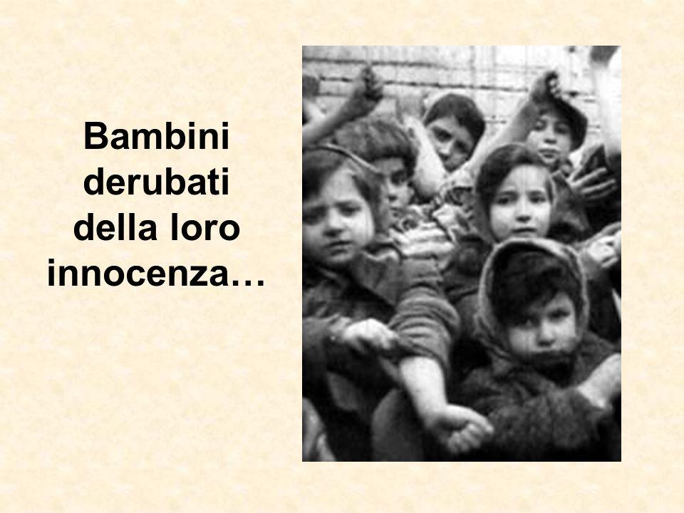 Bambini derubati della loro innocenza…