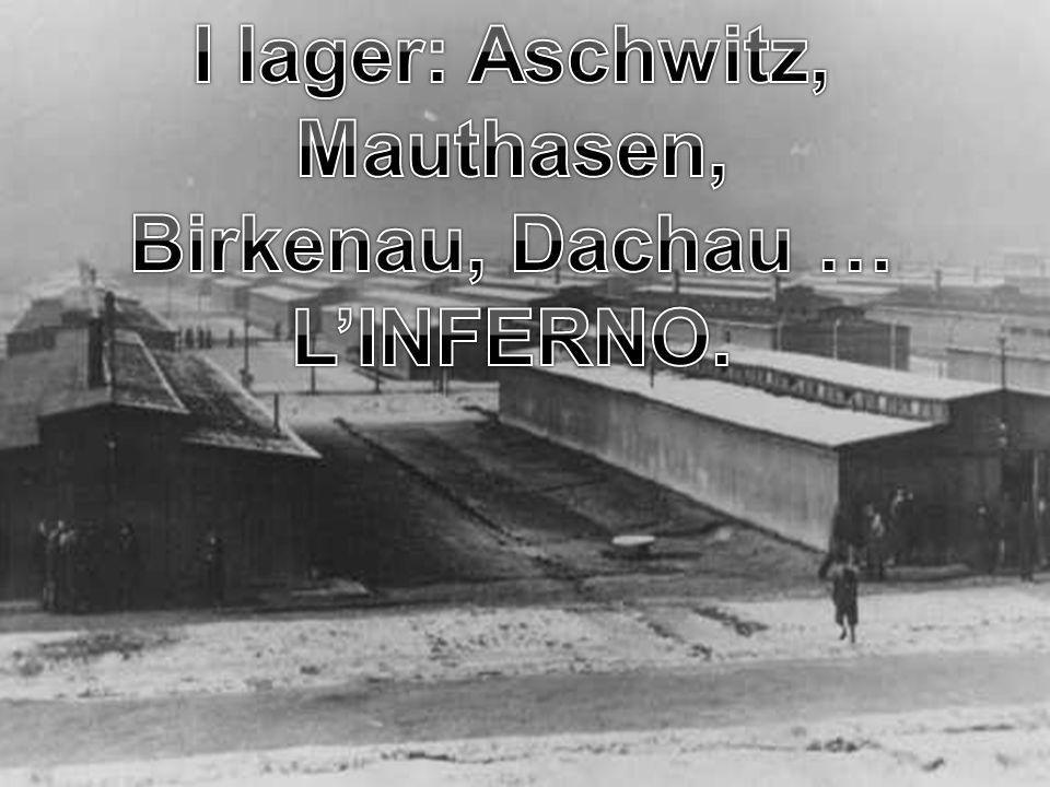 I lager: Aschwitz, Mauthasen, Birkenau, Dachau …