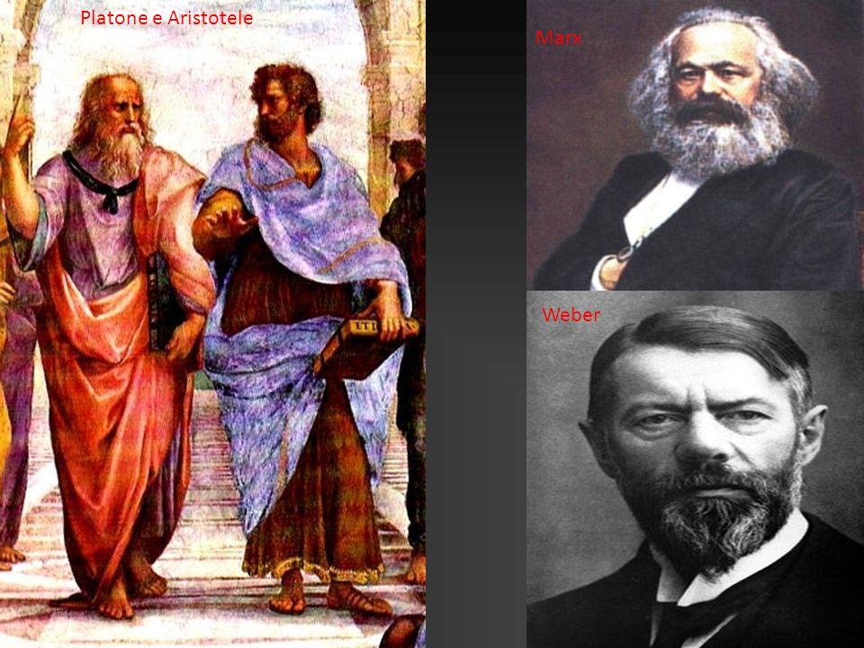 Platone e Aristotele Marx Weber
