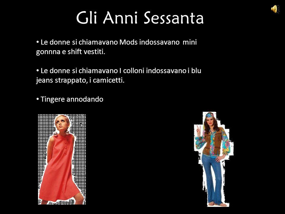 Gli Anni Sessanta Le donne si chiamavano Mods indossavano mini gonnna e shift vestiti.