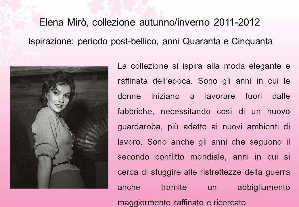 Elena Mirò, collezione autunno/inverno 2011-2012
