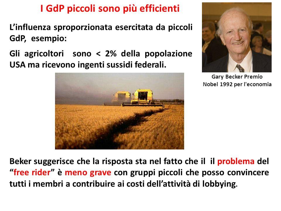 I GdP piccoli sono più efficienti
