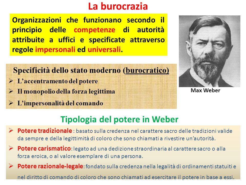 Specificità dello stato moderno (burocratico)