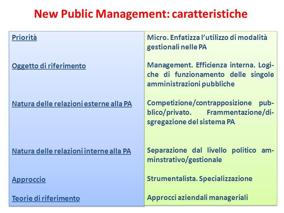 New Public Management: caratteristiche