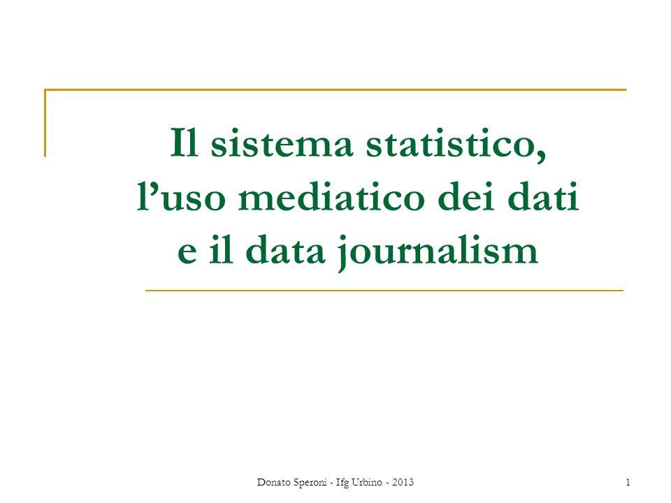 Il sistema statistico, l'uso mediatico dei dati e il data journalism