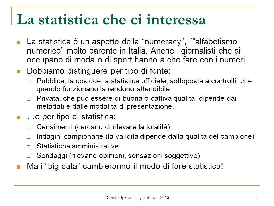 La statistica che ci interessa