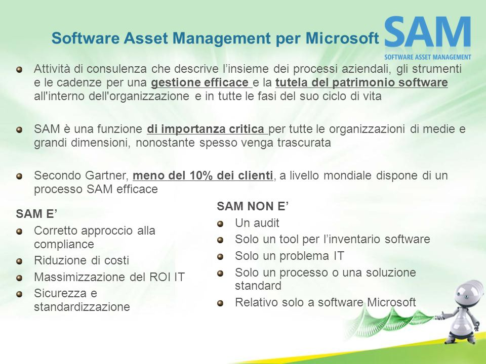 Software Asset Management per Microsoft