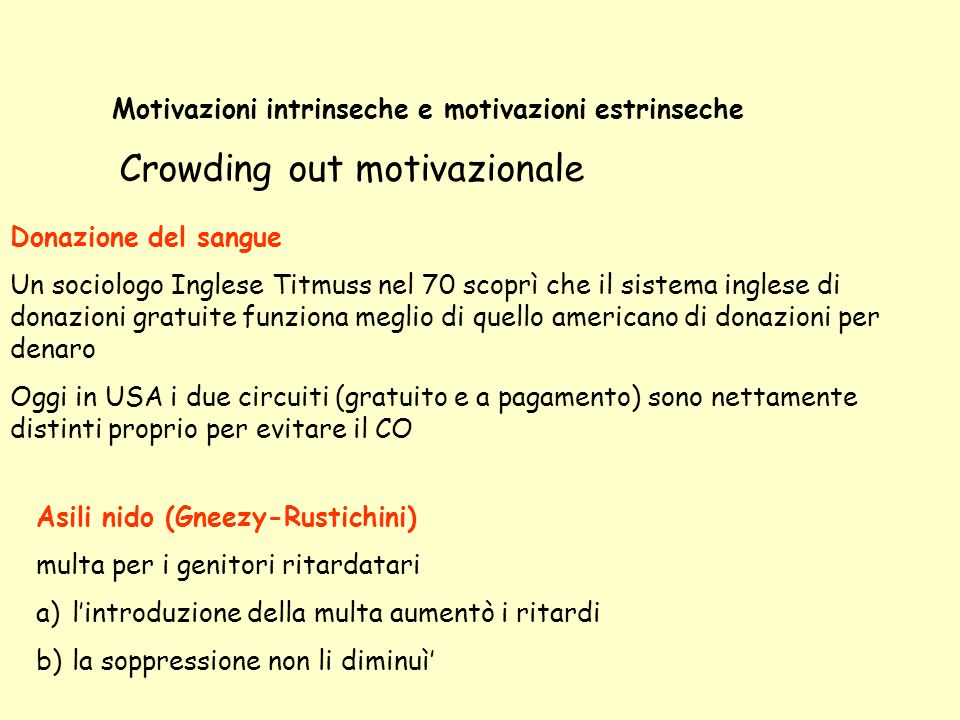 Crowding out motivazionale